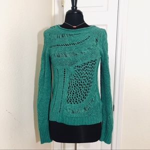 Moth | Anthropologie Green Knit Sweater Size S